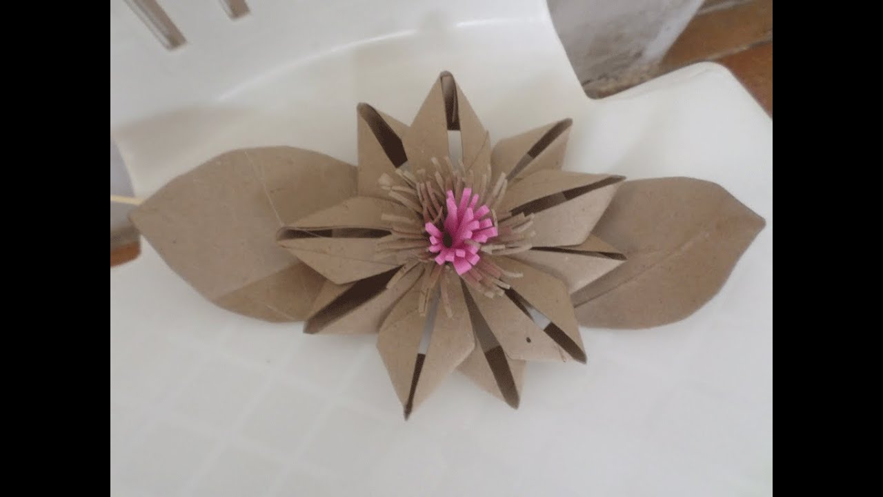 Toilet Paper Roll Flower Diy Doovi