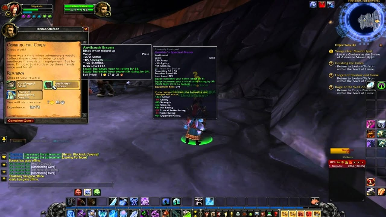 World Of Warcraft Sniffer94 Lvling Death Knight DING LVL 81 SWE