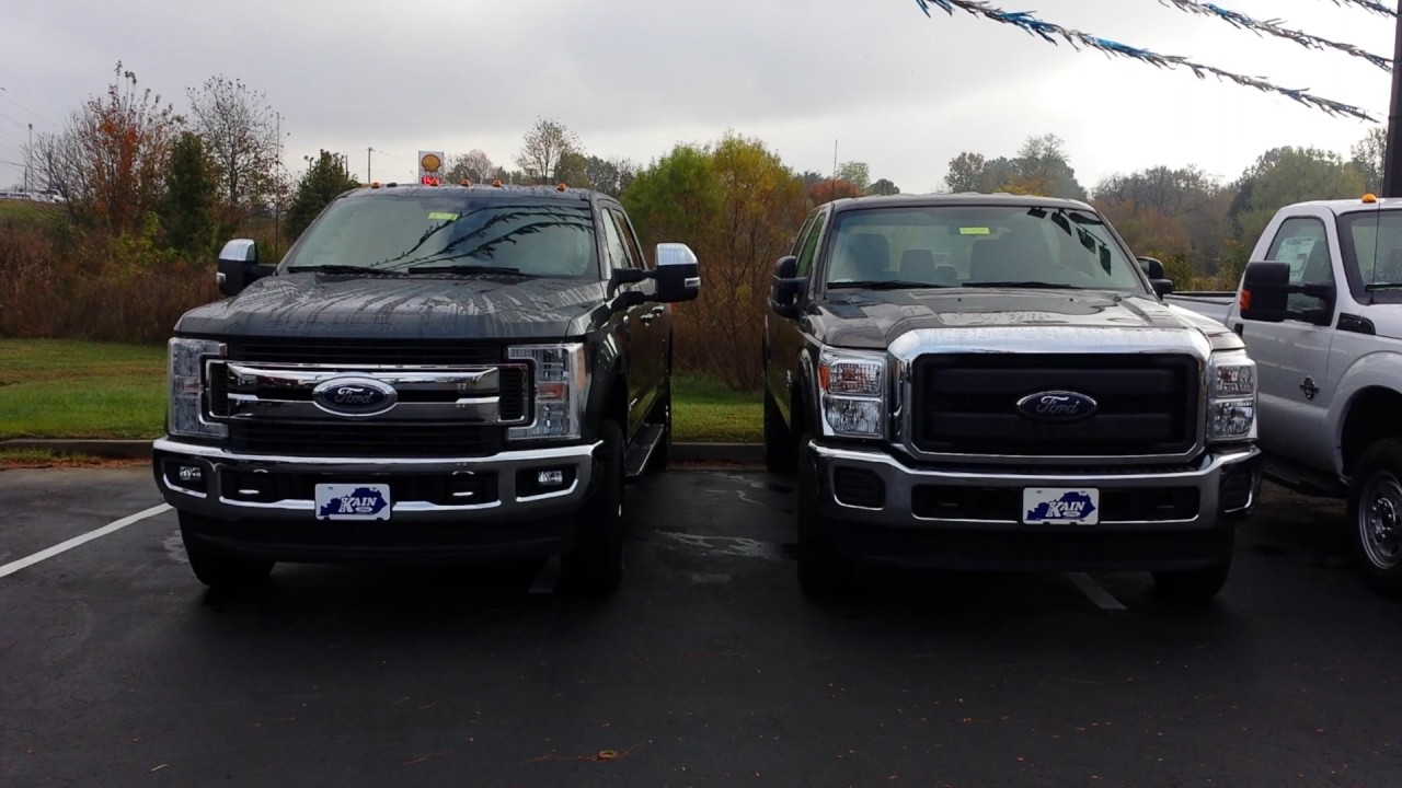 2016 vs 2017 f 250 side by side