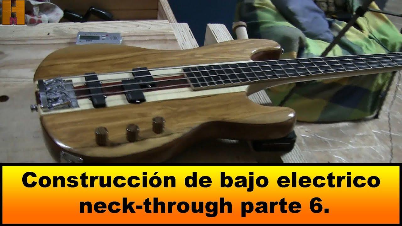 construccià n de bajo electrico neck through par with loop