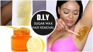 NATURAL HAIR REMOVAL AT HOME : DIY SUGAR WAX HAIR REMOVAL | OMABELLETV