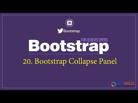 How to create Collapse Panel using Bootstrap