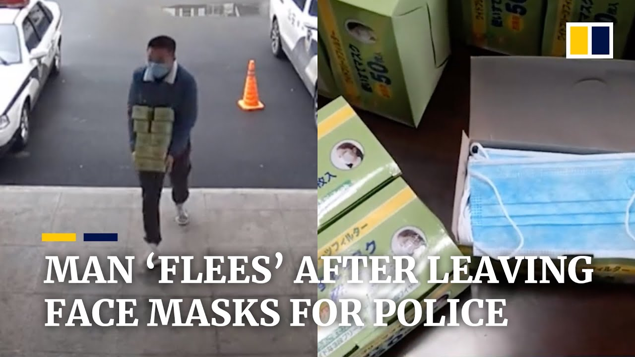 China coronavirus: Chinese man 'flees' after leaving face masks for police officers