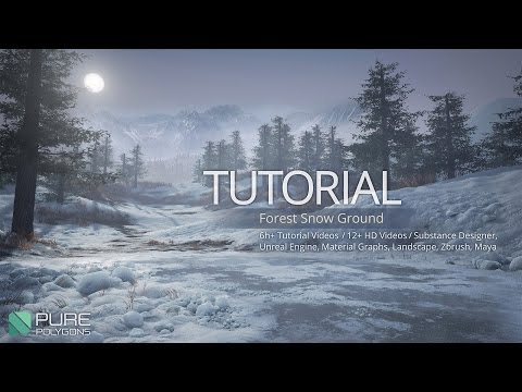 Tutorial - Forest Snow Ground - Substance and Unreal Engine