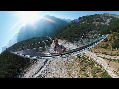 Climbing The Worlds LONGEST Suspension Bridge