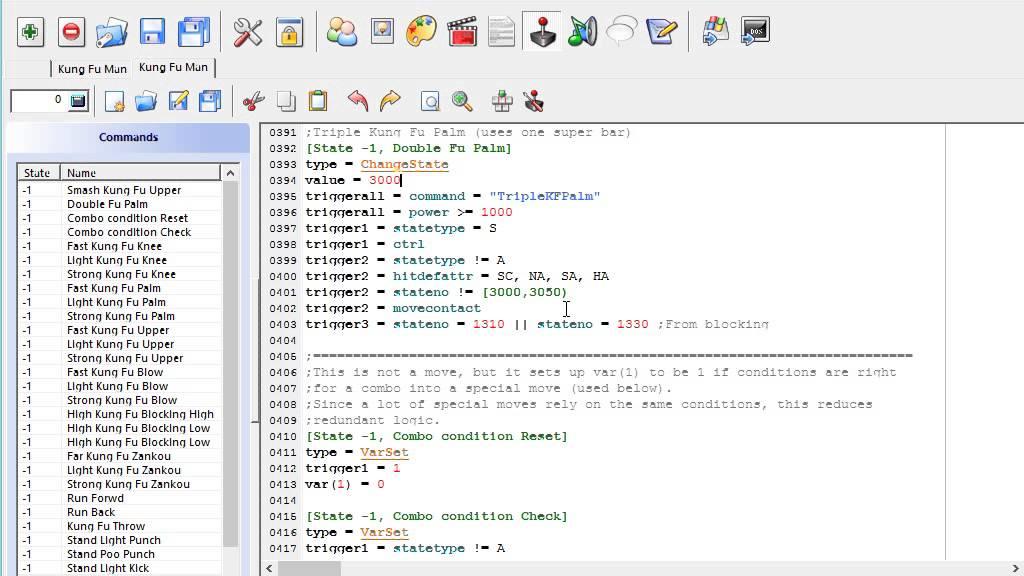 MUGEN Beginner ultimate fighter CMD command file tutorial part 4