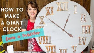 How To Make a Giant Clock from an Old Table