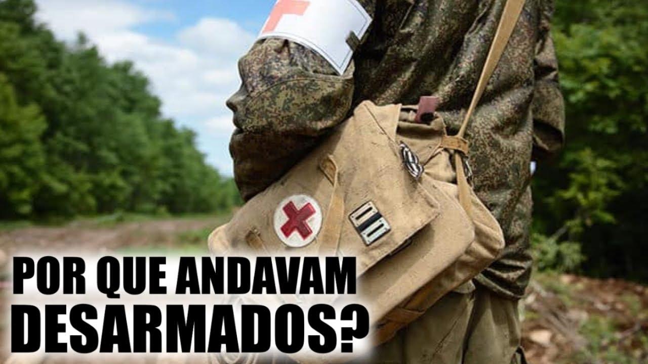 Quais itens o médico de guerra leva na mochila? Ele pode combater no fronte?