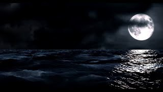 Moon and Ocean at Night (Rendered) - Video & Soundscape [1080HD] SlowTV