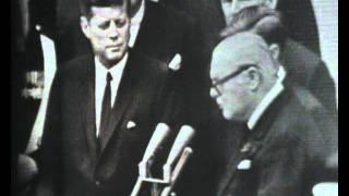 John F. Kennedy makes Winston Churchill an honorary American citizen
