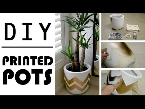 Diy Home Decor Printed Plant Pots Youtube