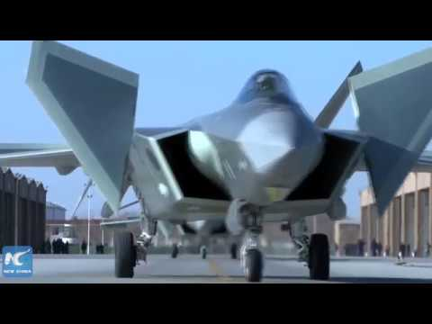 China's J-20 stealth fighter and Su-35 jet in combat training