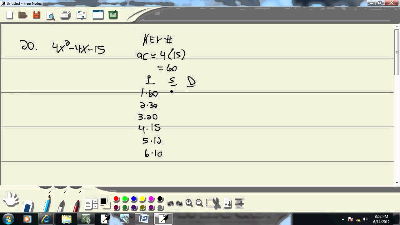Elementary Algebra - Practice Final Exam 1 - Problem 20 - YouTube