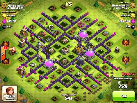 Clash Of Clans Level 6 Balloons Air Farming