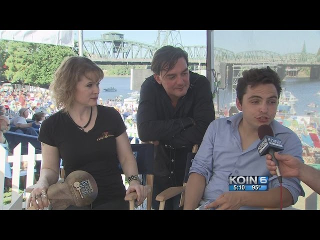 interview at Waterfront Blues Festival