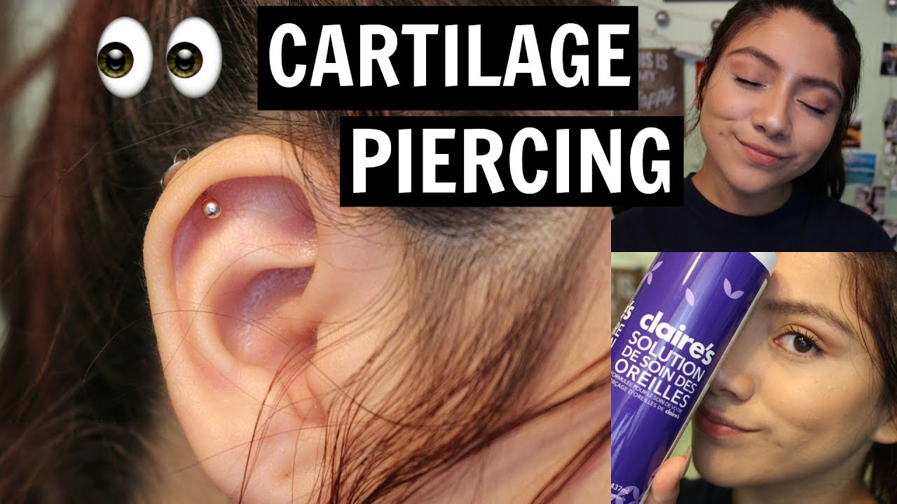 PIERCING MY CARTILAGE AT CLAIRE'S EXPERIENCE | Amanda Jule ...