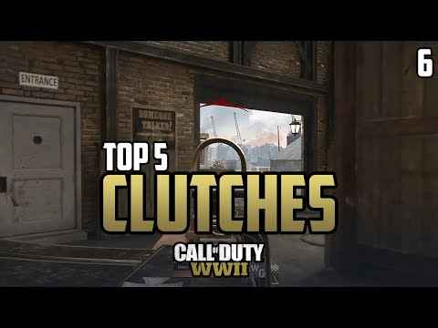 COD WWII: TOP 5 CLUTCHES OF THE WEEK #6 - Call of Duty World War 2
