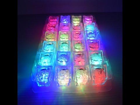 LED Light Up Freezable Ice Cubes (24pc)