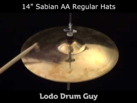"14"" Sabian AA REGULAR HATS hi hat set"