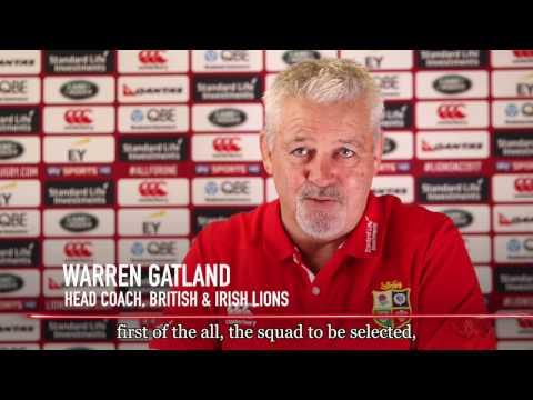 Every player must fight to make Test team - Gatland | British & Irish Lions