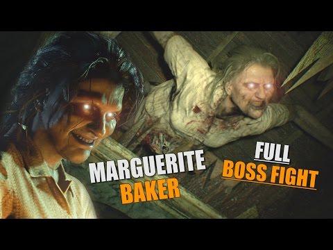 RESIDENT EVIL 7 - Ethan Vs Marguerite | Marguerite Baker FULL Boss Fight (RE7)