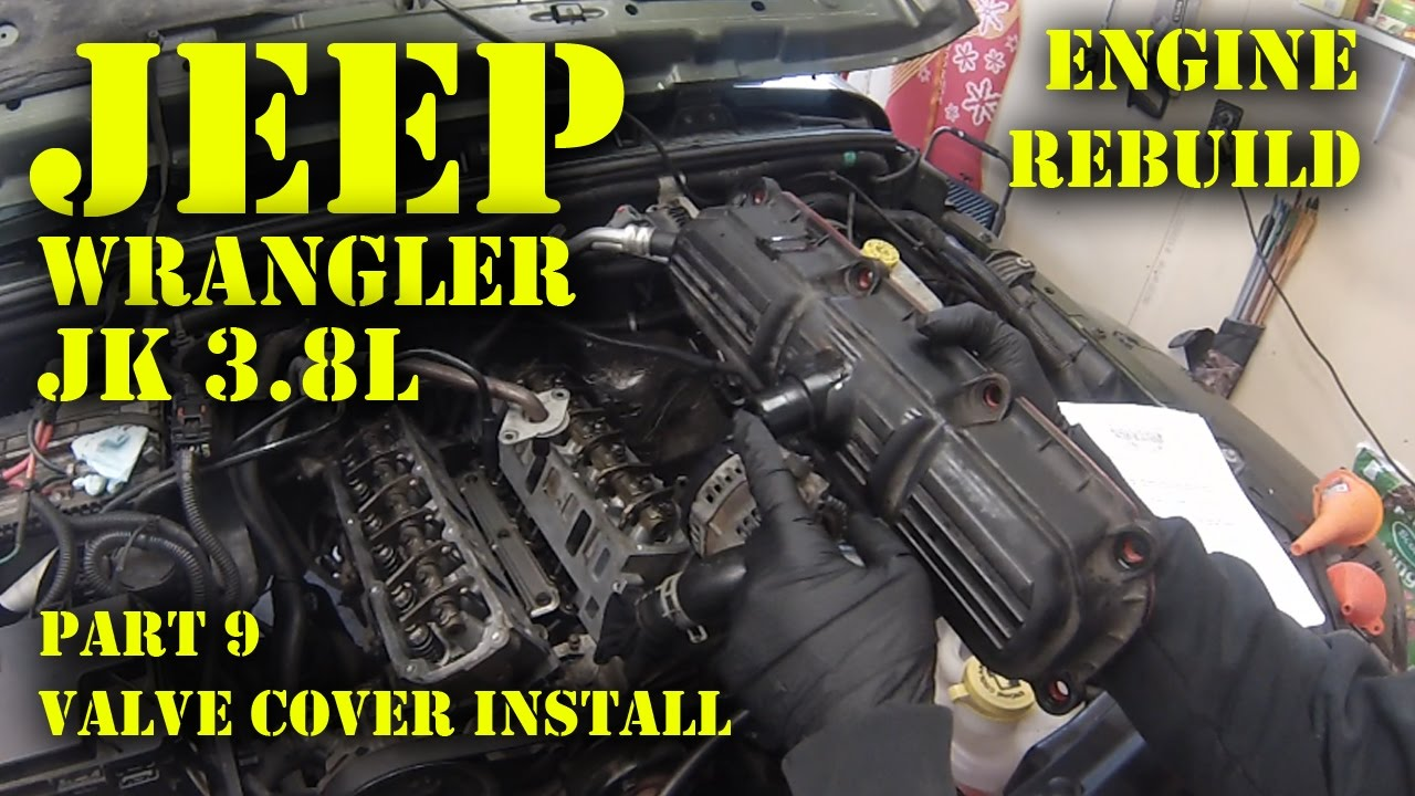 hight resolution of jeep wrangler jk 3 8l engine rebuild part 9 valve cover install jeep wrangler engine upgrade jeep 3 8l engine diagram