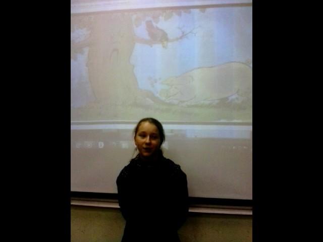 Изображение предпросмотра прочтения – МарияЛапковская читает произведение «Свинья под дубом» И.А.Крылова