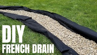 DIY French Drain | Cheap Yard Drainage Solution | pt. 1