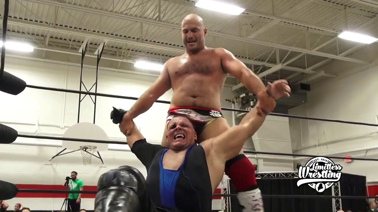 PCO Rockets Himself Into Chris Dickinson & The Second Row - Limitless Wrestling (PWG, GCW, Beyon