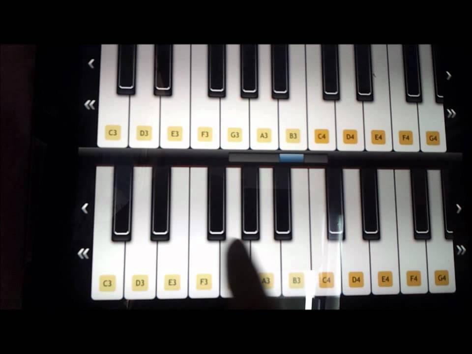 Piano Keys The Happy Birthday Song Youtube