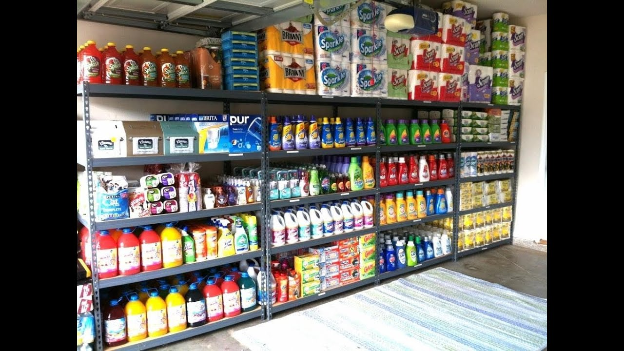 Garage Organization: How I organize my stockpile - YouTube on clean my garage, remodel my garage, super organize your garage, organizing my garage, ways to organize a garage,