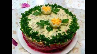 Салат из свеклы с мясом и огурцами. НА КУХНЕ У МАМЫ