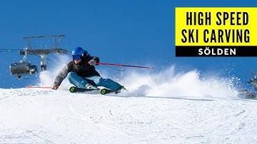 SKI CARVING in SÖLDEN   Skiing Giggijoch mit Julian Witting