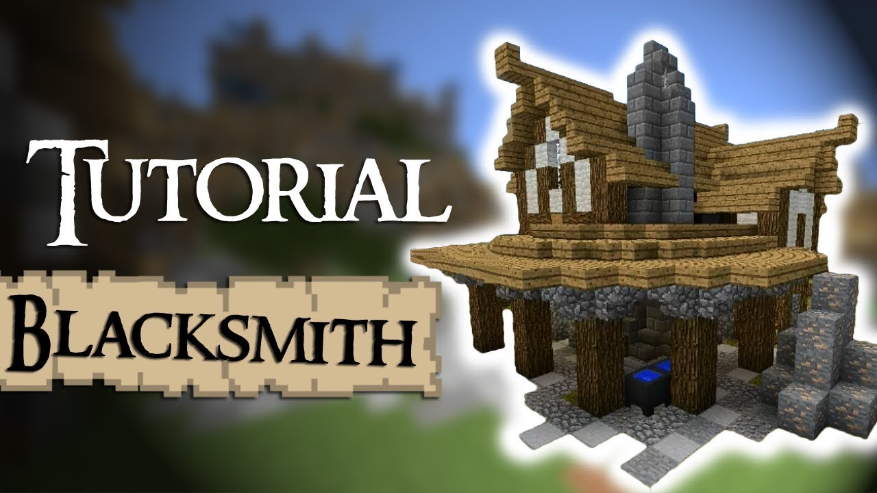 Minecraft tutorial how to build a medieval blacksmith for Classic house tutorial
