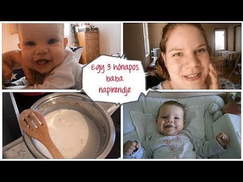 Egy 3 hónapos baba napirendje  *  ÖRÖKKÉKÉKAZÉG  *