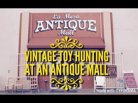 VINTAGE TOY HUNTING at an ANTIQUE MALL SHOP