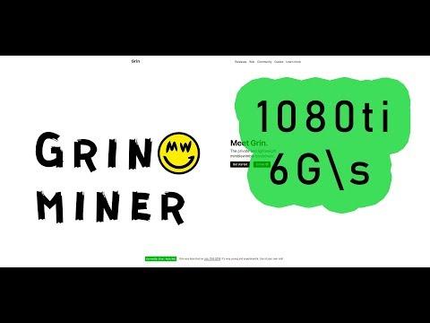 Лучший GRIN Miner 🚀 1080ti ➡ 6 G\s ❗❗❗