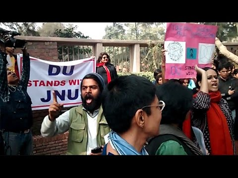 DU stands for JNU- echos in campus, watch video