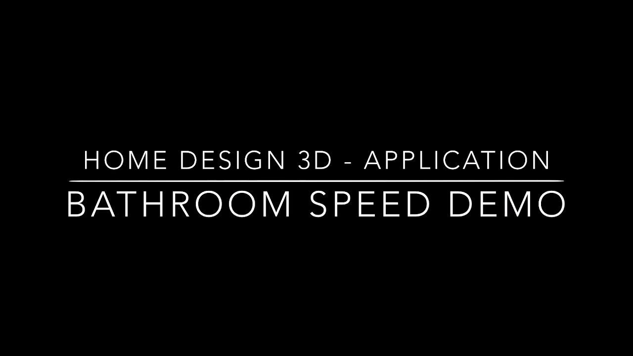 home design 3d speed design bathroom by charlie thompson youtube