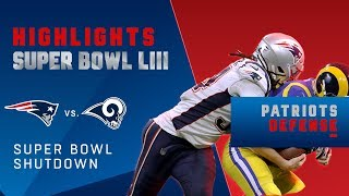 Patriots Defense Hold Rams to 3 Points, Tied for a SB Record | Super Bowl LIII Player Highlights