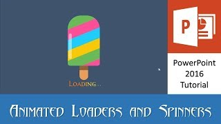 The Ice Cream   Animated Loader and Spinner in PowerPoint 2016 Tutorial