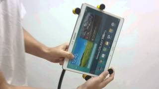 Installation_Rotating Bed Desktop Lazy Stand Goose neck Tablet Mount Holder
