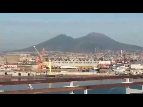 JKHC - RUBY PRINCESS CRUISE - ITALY - NAPLES PORT SEEN FROM SHIP - 23/9/12