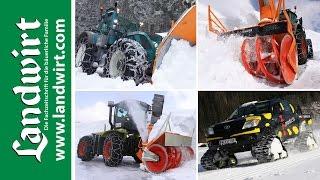 Landmaschinen im Schnee | landwirt.com