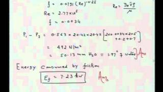 Mod-01 Lec-26 Macroscopic Energy Balance: Applications to Design Head Meters, Stack and Blowers