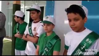 احتفال قسمي المتوسط والثانوي بمدارس الرواد بريدة باليوم الوطني الـ86 للمملكة العربية السعودية