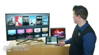 Abt Tips: Using Airplay With Your Apple TV(Using Airplay with your Apple TV - http://abt.com/product/60184/Apple-MD199LLA.html AirPlay lets you wirelessly stream what's on your iOS devices and Mac to ..., 2015-03-12T18:43:10.000Z)