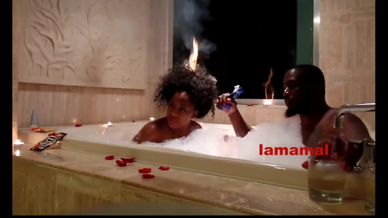 romantic bathtub hair fire - 1280×720