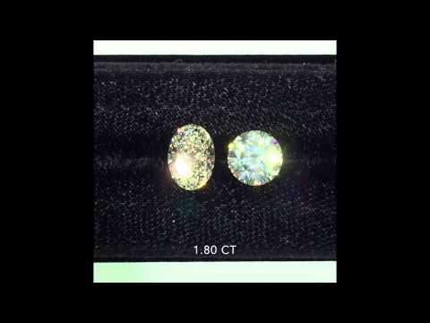 Round Cut Diamond Vs Oval Cut Diamond Comparison 1 80