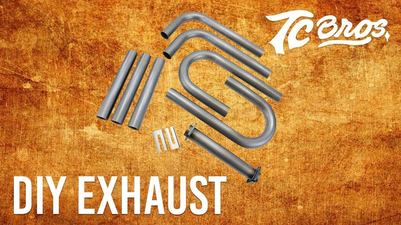 tc bros diy builder exhaust kit fits harley sportster big twin evo